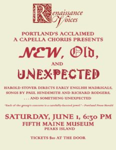 Renaissance Voices @ Fifth Maine Museum