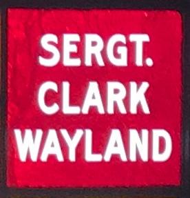 Sergeant Clark Wayland St. Johns, New Brunswick